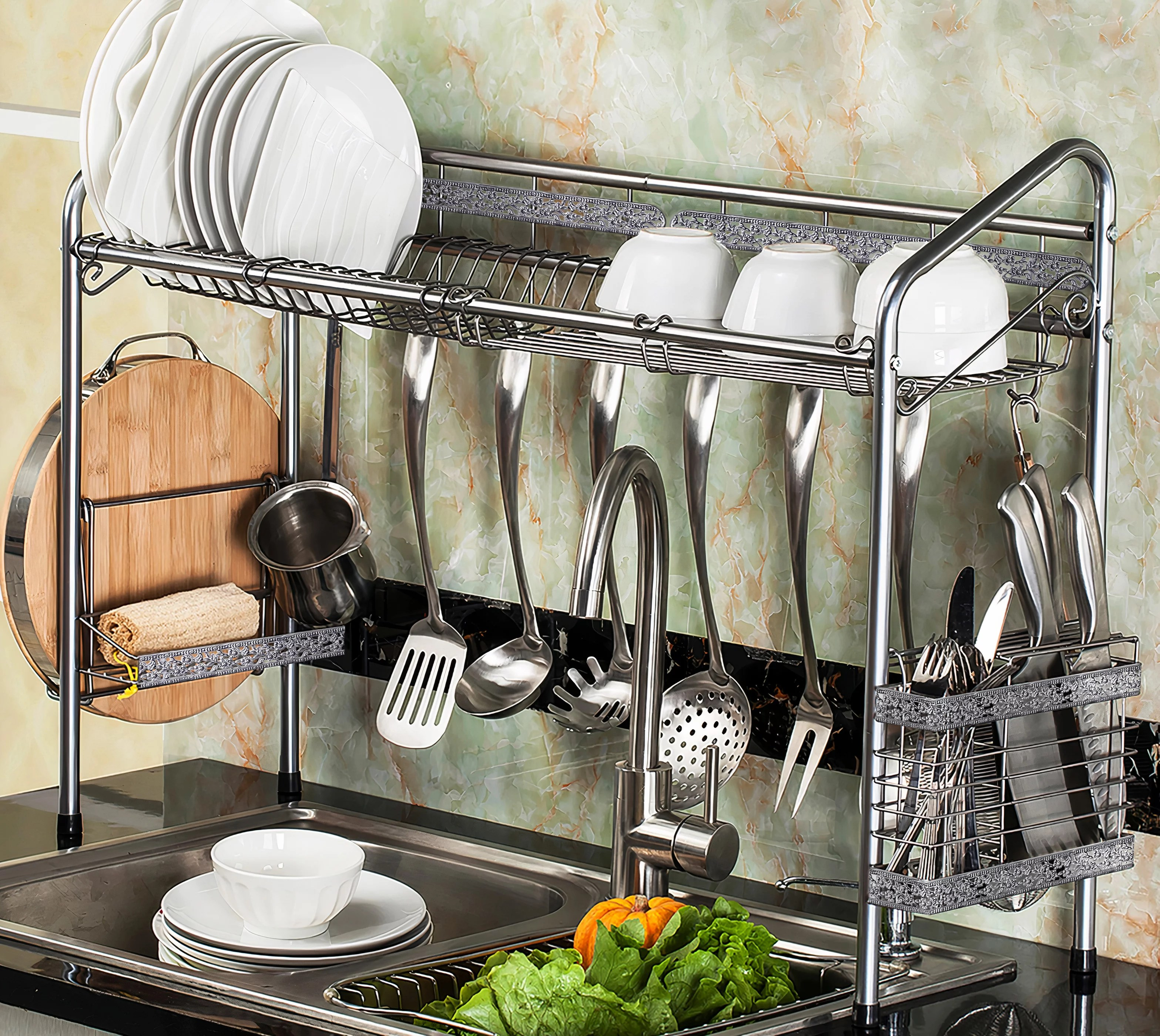 premiumracks professional over the sink silver dish rack walmart com