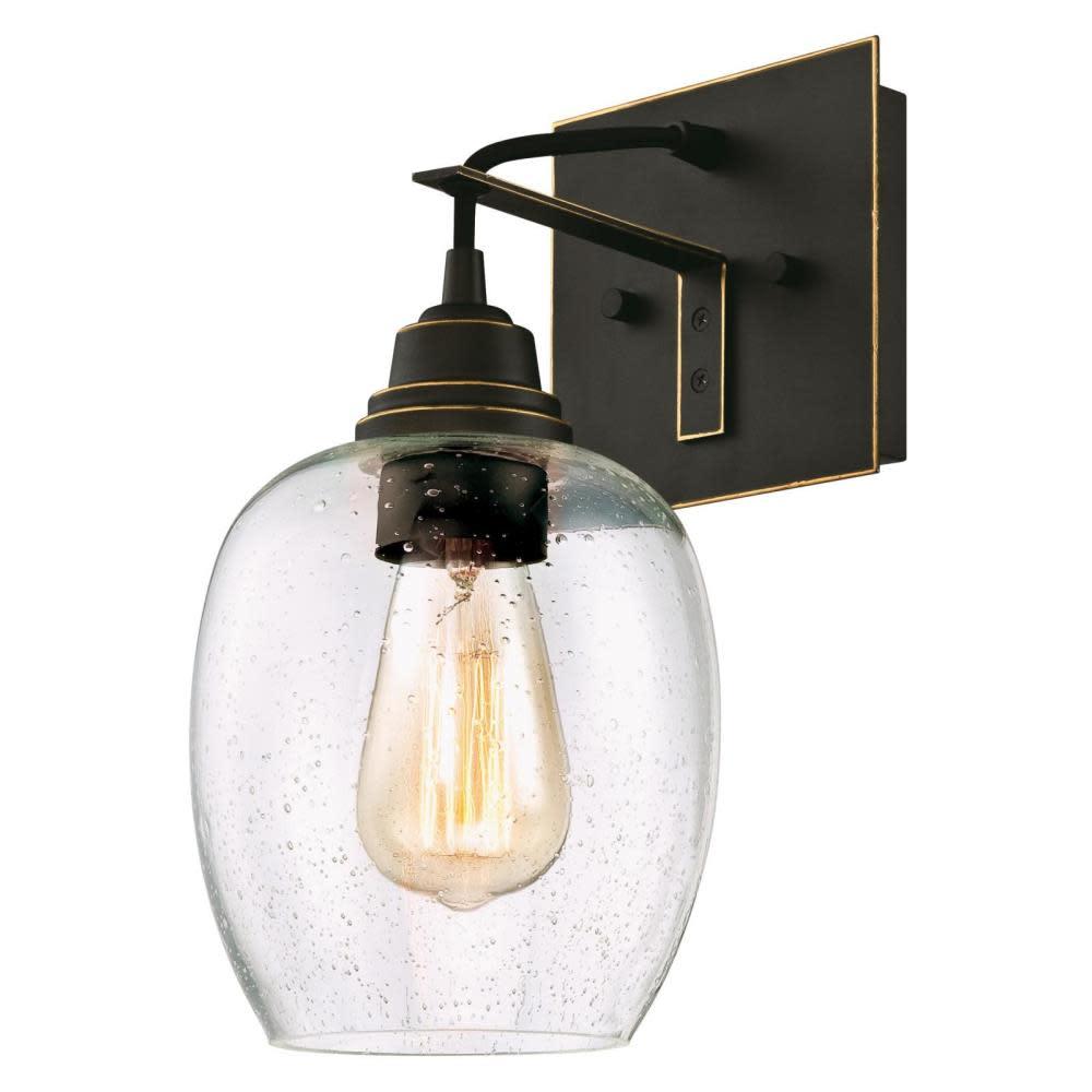 "Westinghouse 6333200 Eldon Single Light 6-1/4"" Wide ... on Height Of Bathroom Sconce Lights id=88060"