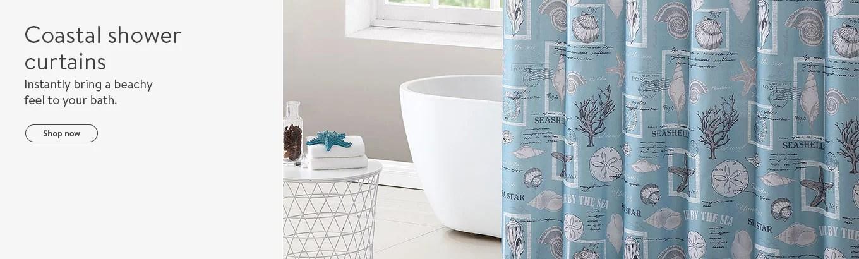 coastal shower curtains walmart com