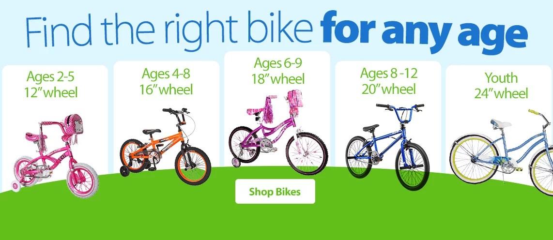 Kids Bikes Wheels Size Age