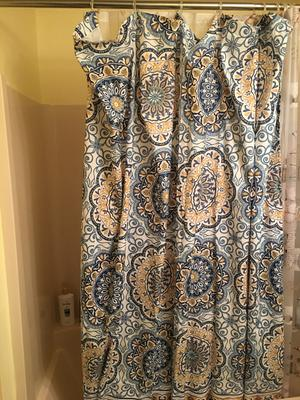 madison park tangiers shower curtain 72x72 orange