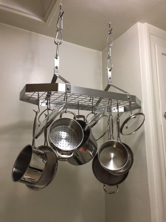 cuisinart crc 29b octagonal hanging cookware rack