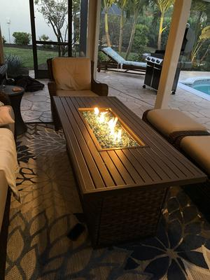 better homes gardens harbor city patio fire pit dining table