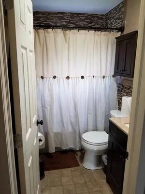 lush decor linen button color block cotton blend shower curtain 72x72 linen single