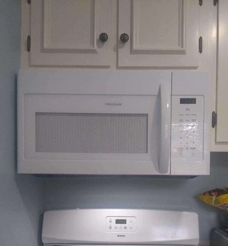 frigidaire ffmv1645t 30 wide 1 6 cu ft 1000 watt over the range microwave