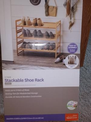 better homes gardens bamboo 3 shelf shoe rack