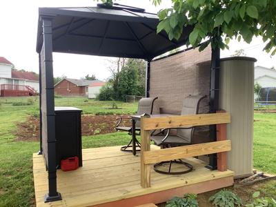 better homes gardens sullivan ridge 8 x 8 hard top gazebo with netting