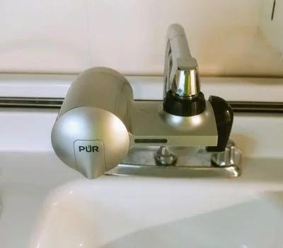 pur advanced faucet water filter pfm300v silver matte