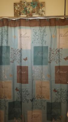butterfly blessings shower curtain 1 each