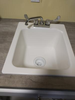 mustee 11 17 in w x 20 in l x 9 1 2 in h counter top fiberglass utility sink
