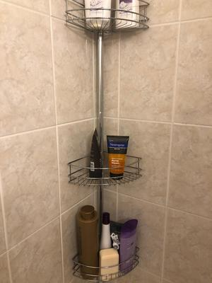 3 tier tension pole shower caddy 60 in to 97 in chrome
