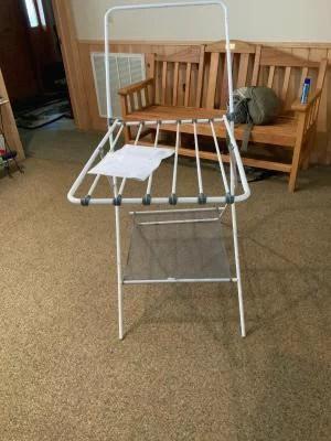 mainstays foldable drying rack white