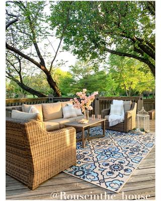 better homes gardens hawthorne park 4pc sofa conversation set with beige cushions