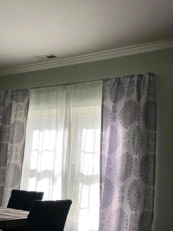 umbra 28 48 twilight 3 4 room darkening curtain rod nickel