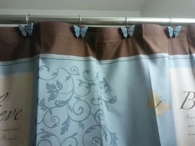mainstays butterfly blessings shower curtain hook set natural 12 piece