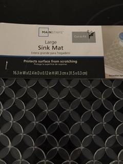 mainstays kitchen sink mat and sink protector