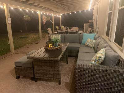 better homes gardens brookbury 5 piece patio wicker sectional set