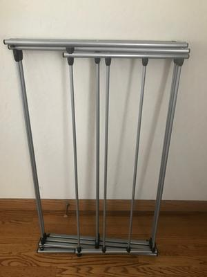 mainstays oversized collapsible steel laundry drying rack silver
