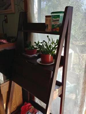 mainstays contemporary 3 shelf ladder desk white finish