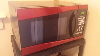 hamilton beach 0 9 cu ft 900w stainless steel microwave