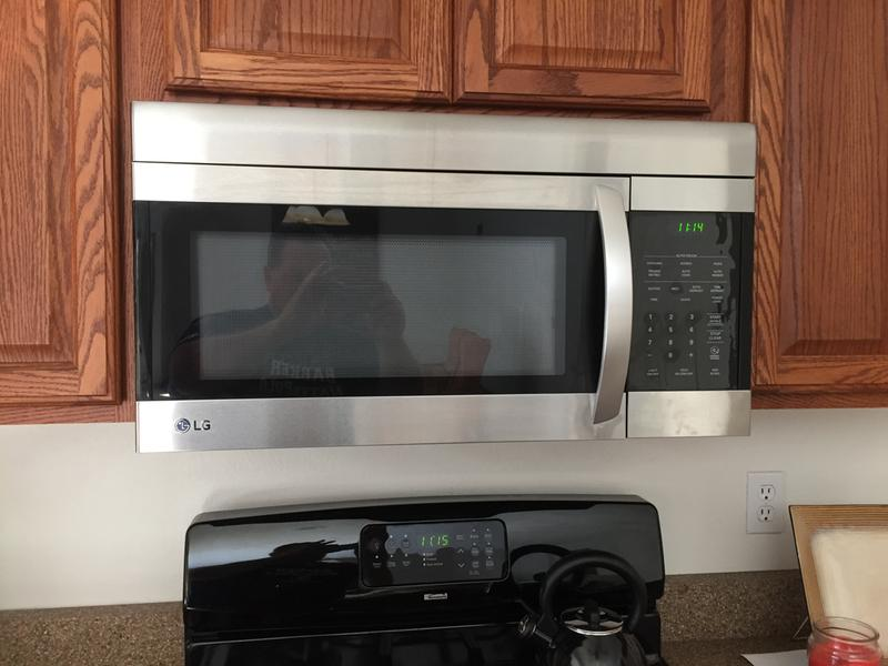lg lmv1683sw microwave oven over range 1 6 cu ft 1000 w smooth white with built in exhaust system