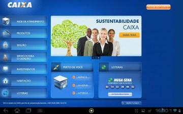 Simulador CAIXA – App CAIXA para Tablet com Android