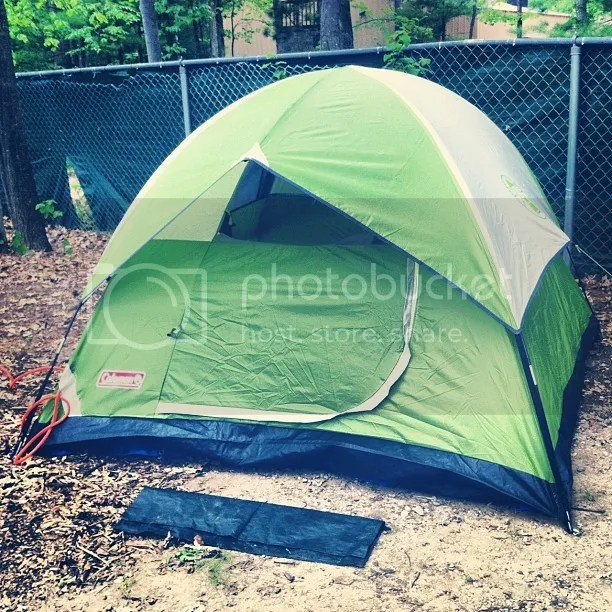 Mary's green tent