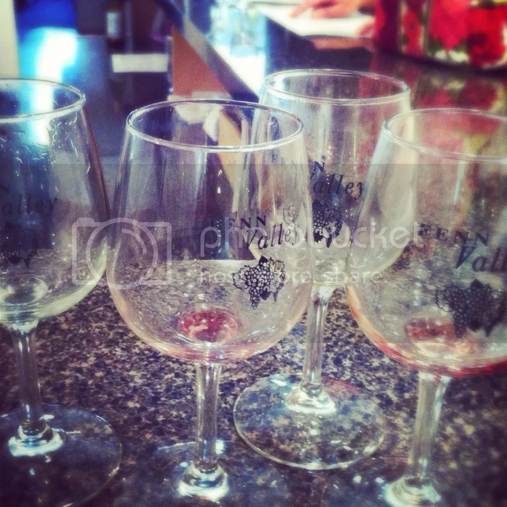 Fenn Valley wine glasses