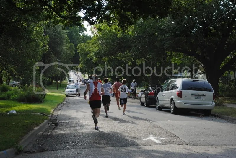 Runners on the 5K