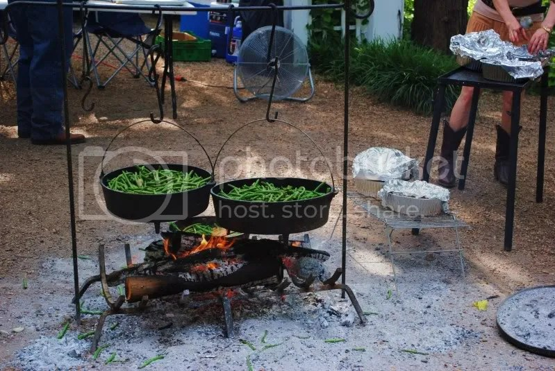 Green Beans in a Dutch Oven