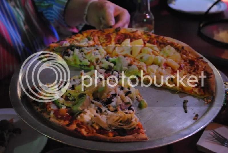 Pizza at Cadillac's Pizza Pub