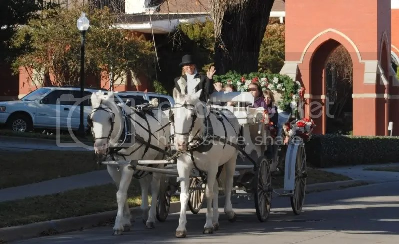 Happy Trails Carriage Rides Passing the FUMC