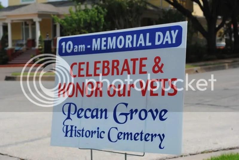 Memorial Service at Pecan Grove Cemetery