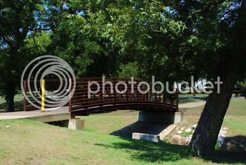 Bridge Over a Creek Leads to Neighboring Community
