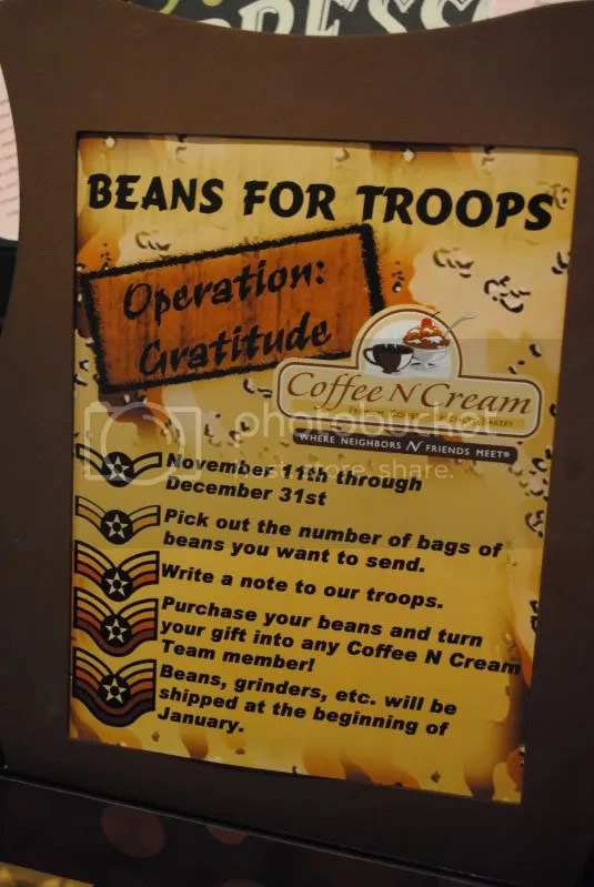 Coffee Promotion For The Troops