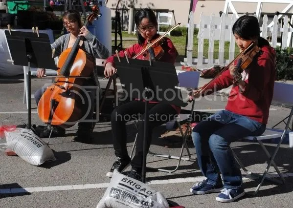 Violinists in Front of the Courthouse
