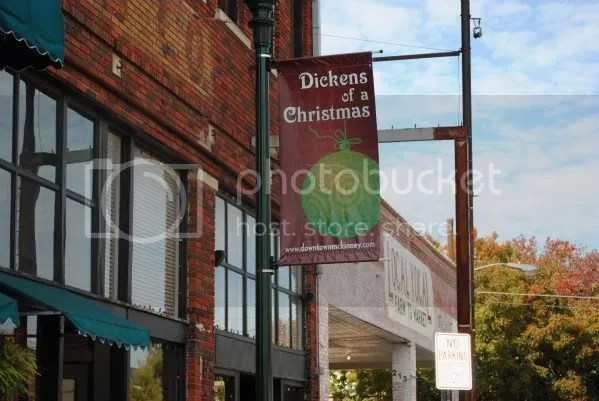 Dickens Banners Starting to Go Up