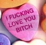 Image of nasty Love Heart sweetie