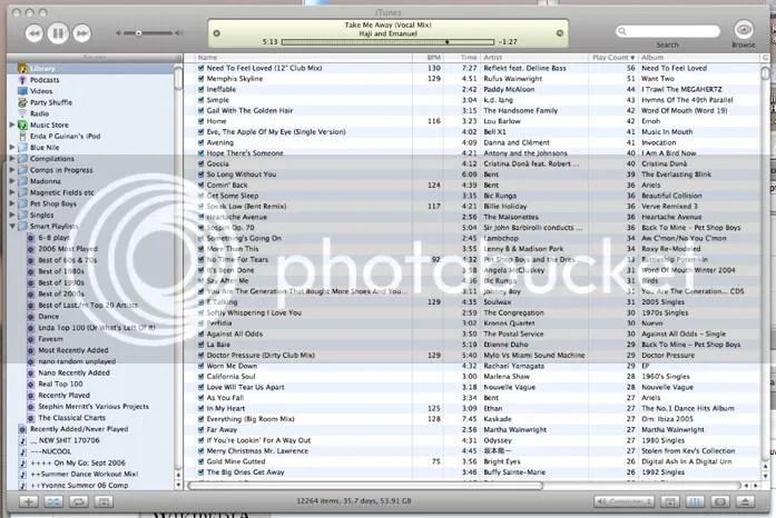 Screengrab of iTunes.