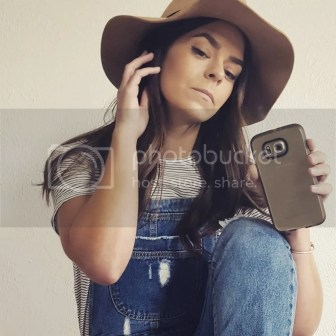 Overalls Hat Striped top