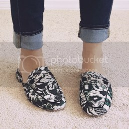 Embroidered Pattern Loafers Slides