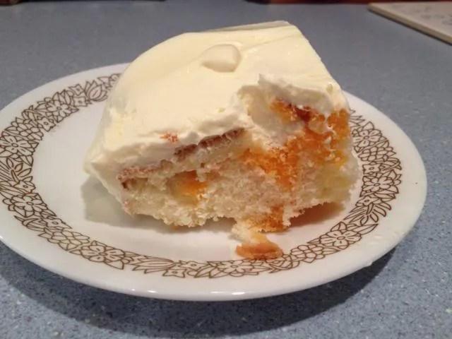 Recipe: Orange Creamsicle Poke Cake