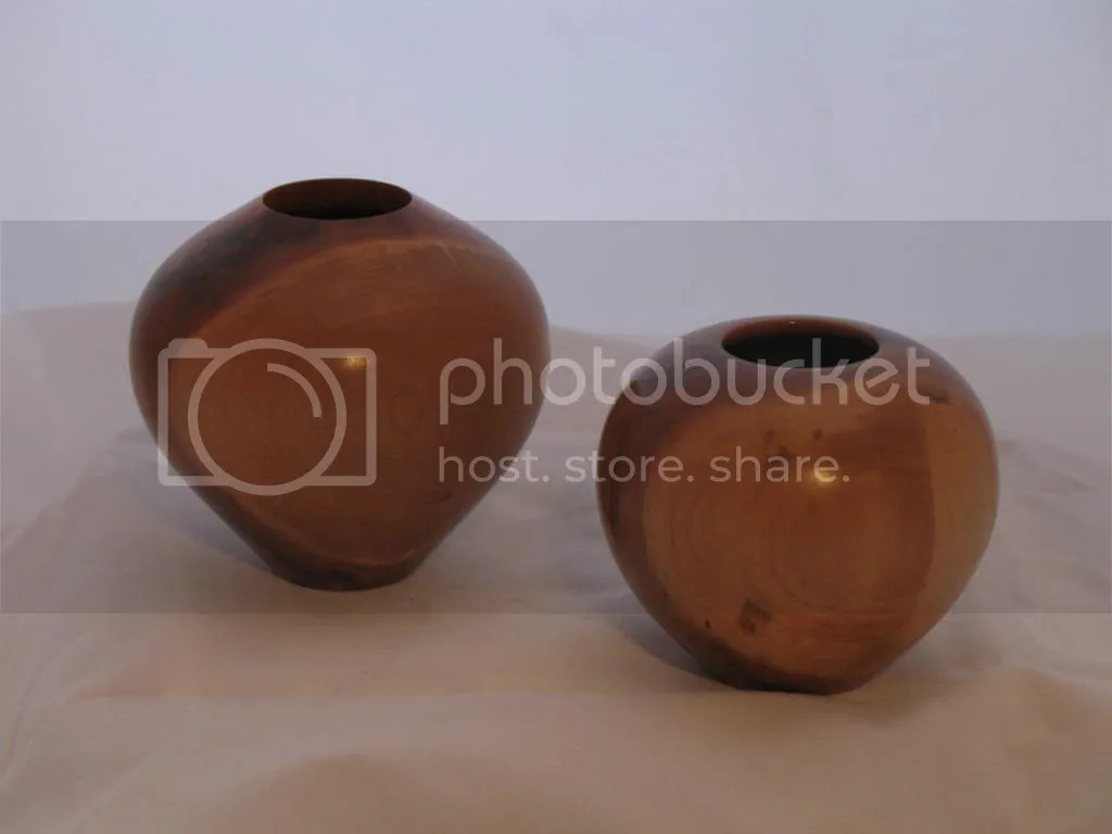 Two small cherry vessels