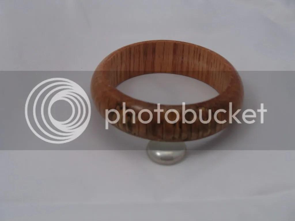 Spalted oak bangle bracelet