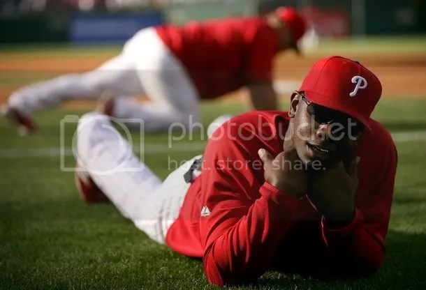 Ryan Howard poses cute for the camera.