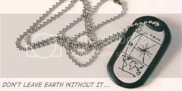 location earth dog tag