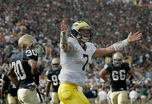 Either Chad Henne is celebrating a score or doing his best Touchdown Jesus impression. Ill leave it up to you to decide.