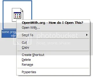 Open with - OpenWith.org additional menu