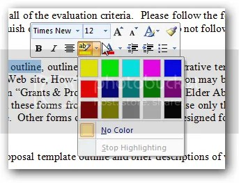 Mini Formatting Toolbar - Office 2007