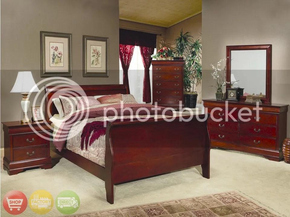 cherrywood sleigh bed